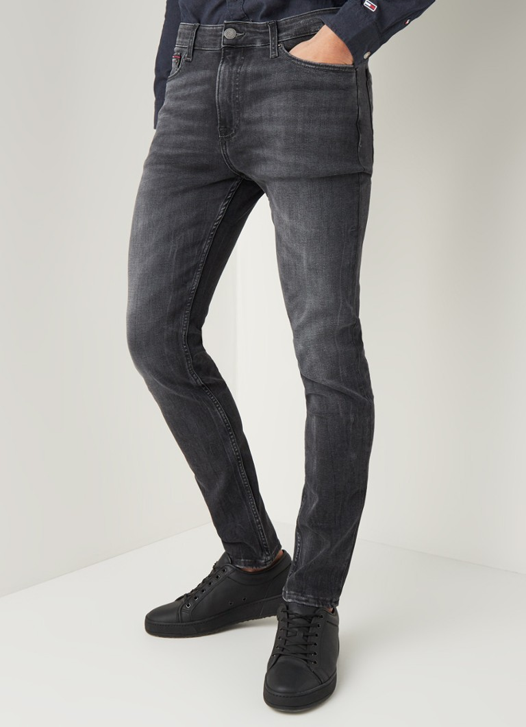 Tommy Hilfiger - Simon skinny jeans met donkere wassing - Antraciet