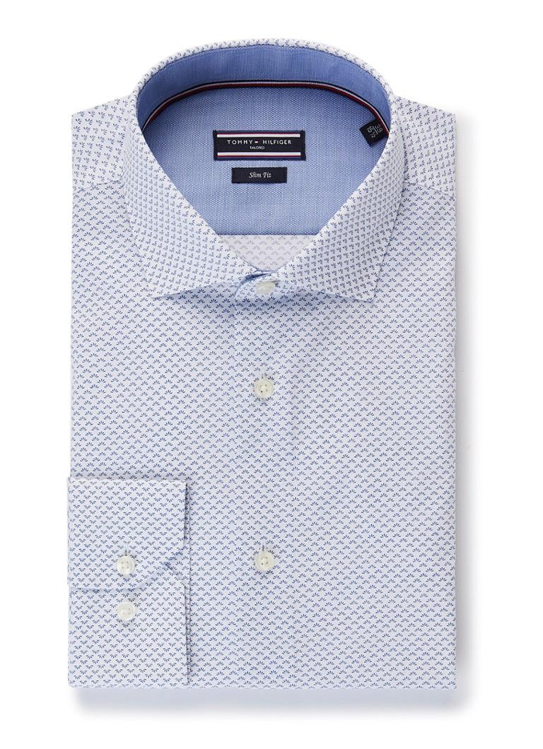 Overhemd Extra Lange Mouw.Tommy Hilfiger Slim Fit Overhemd Met Micro Dessin En Extra Lange
