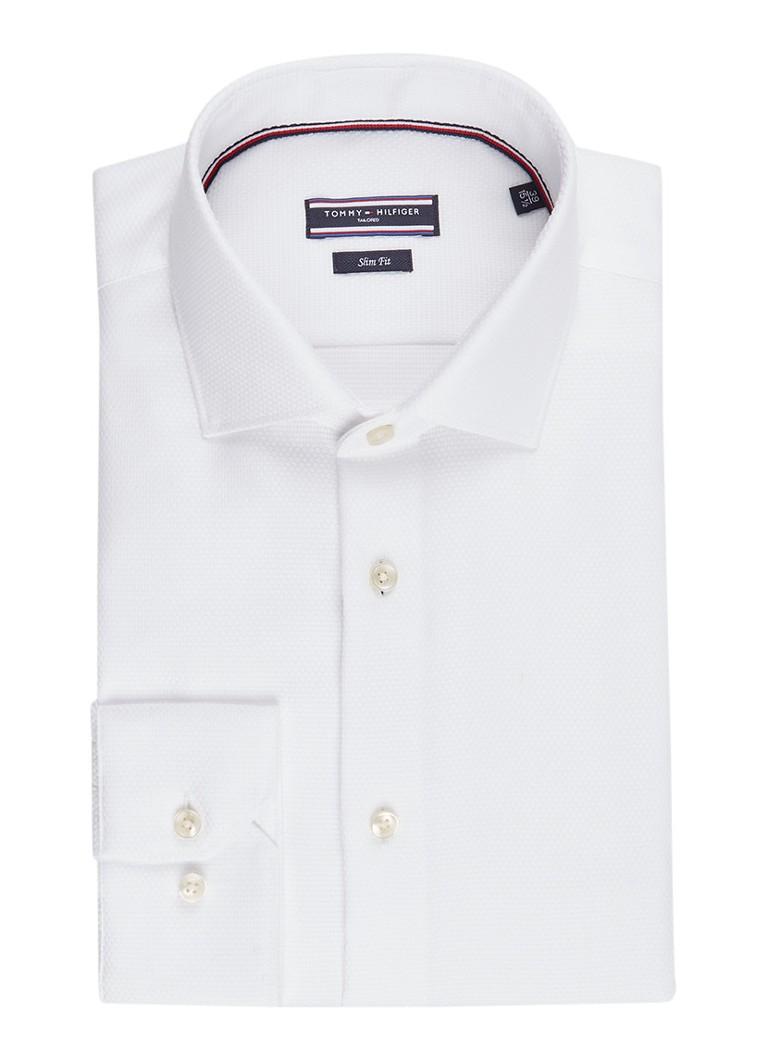 Overhemd Strijkvrij Slim Fit.Tommy Hilfiger Tailored