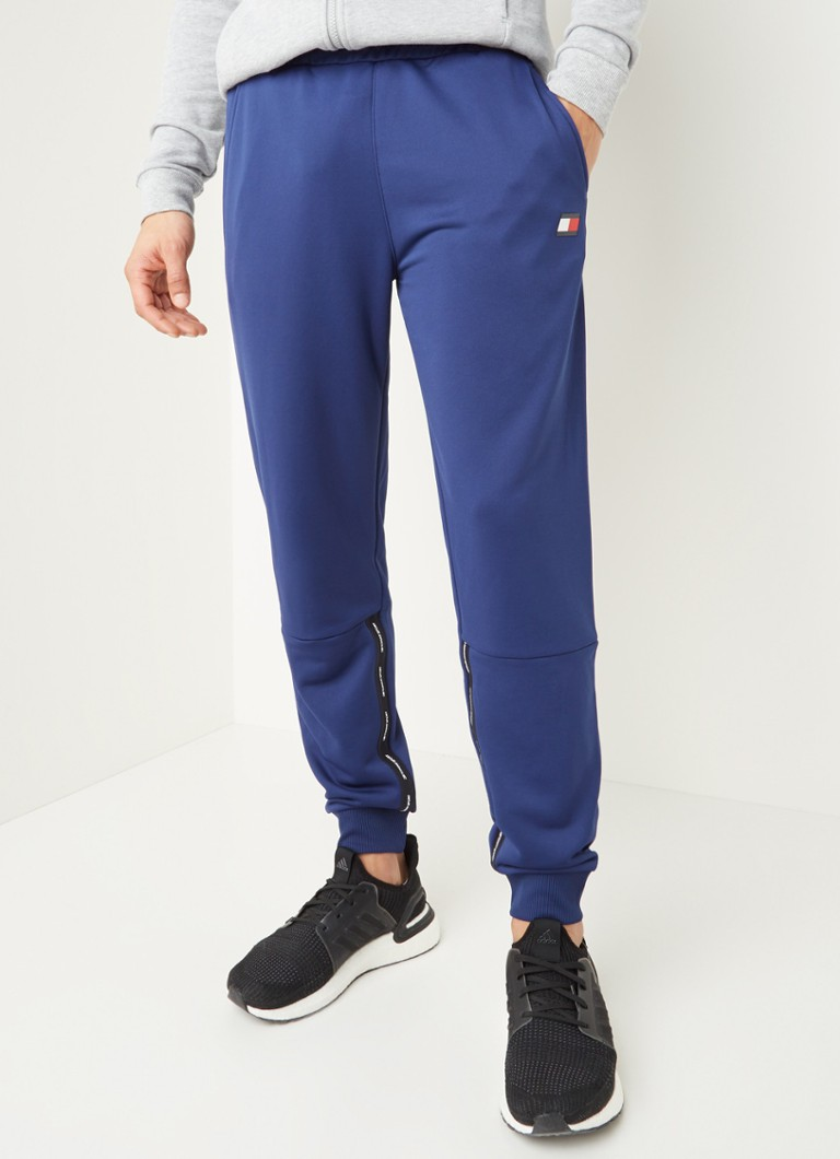 Tommy Hilfiger - Tapered fit joggingbroek met logoprint - Blauw