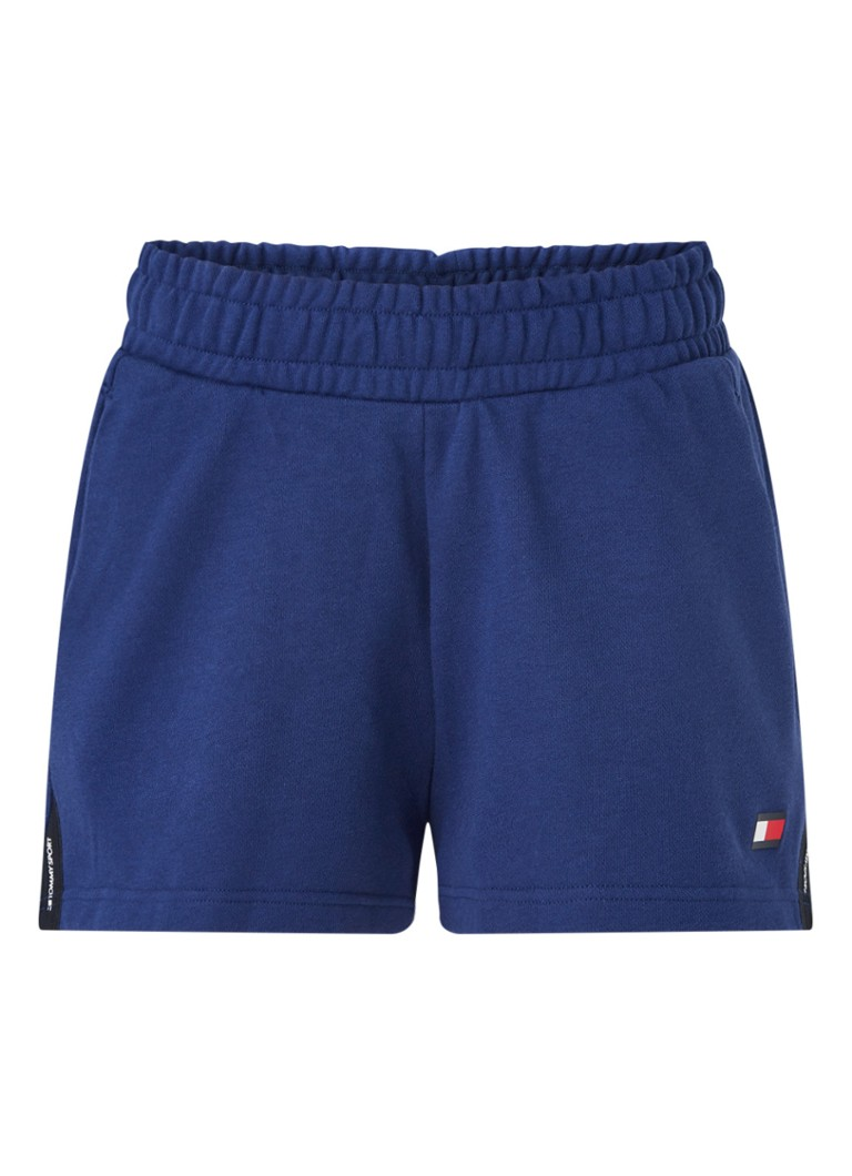 Tommy Hilfiger - TH Cool runner trainingsshorts met steekzakken - Blauw