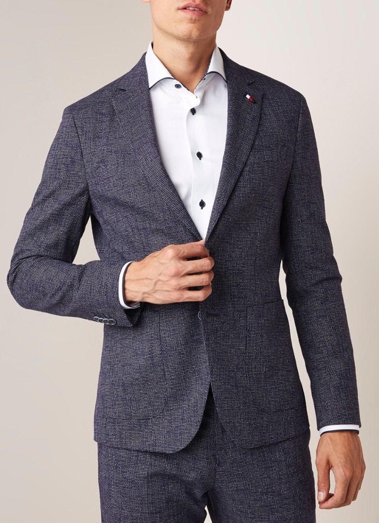 Tommy Hilfiger - The Flex slim fit colbert - Donkerblauw