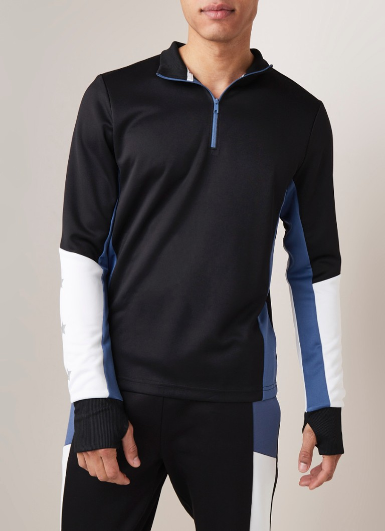 Tommy Hilfiger - Trainingslongsleeve in colourblocking - Zwart