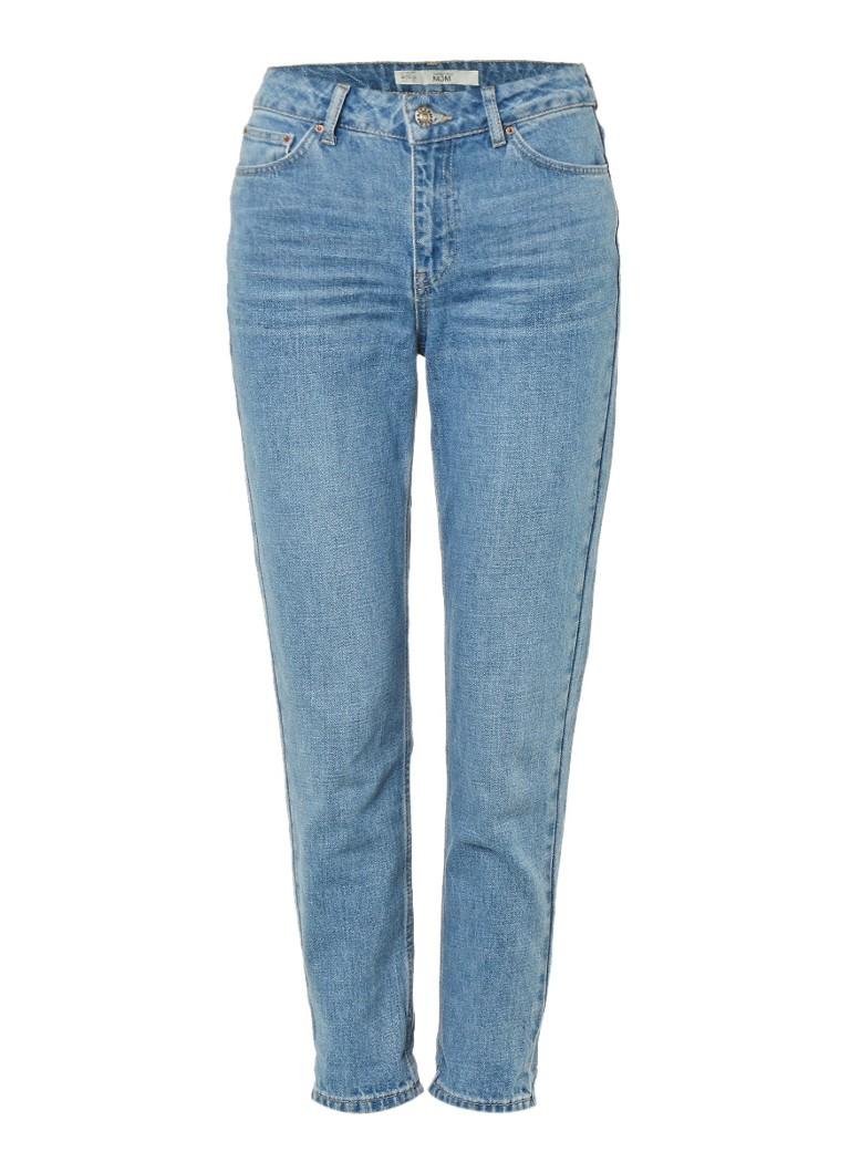topshop high waisted mom jeans de bijenkorf. Black Bedroom Furniture Sets. Home Design Ideas