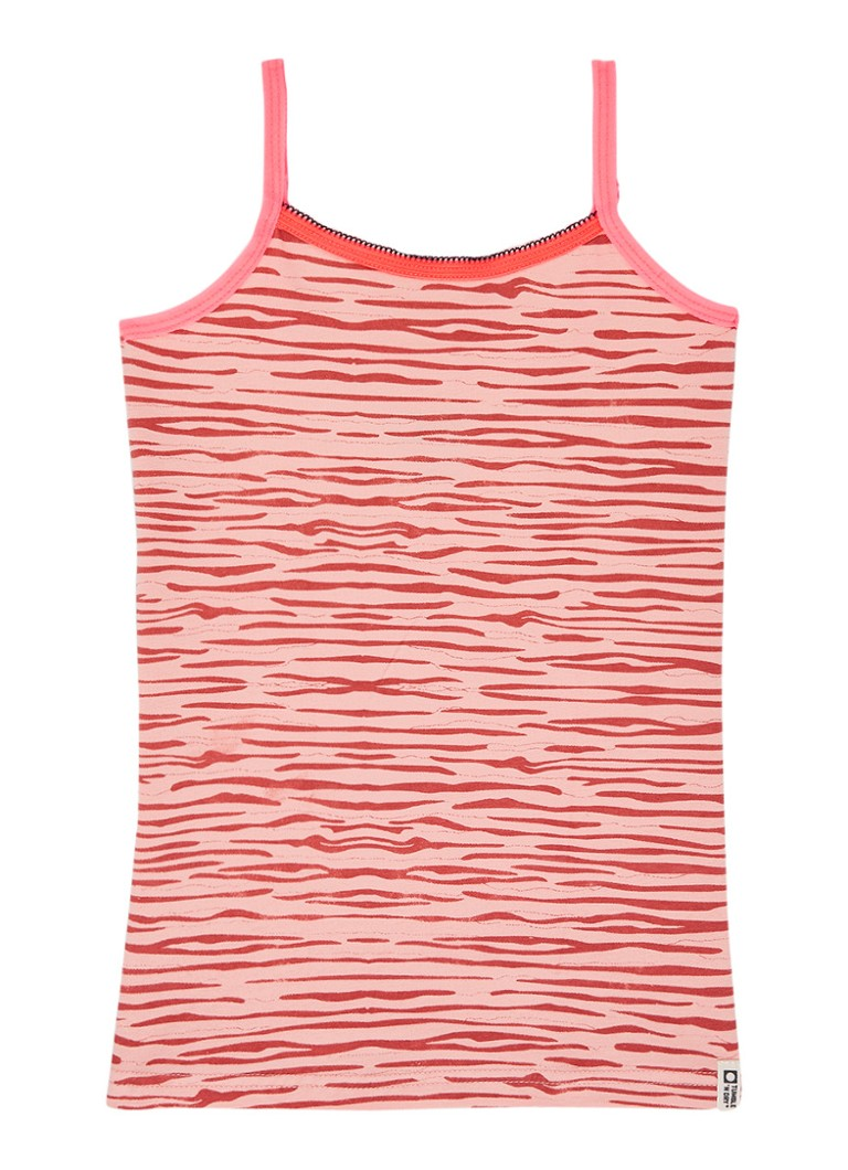 Tumble 'n Dry - Altea singlet in uni en dessin in 2-pack - Lichtroze