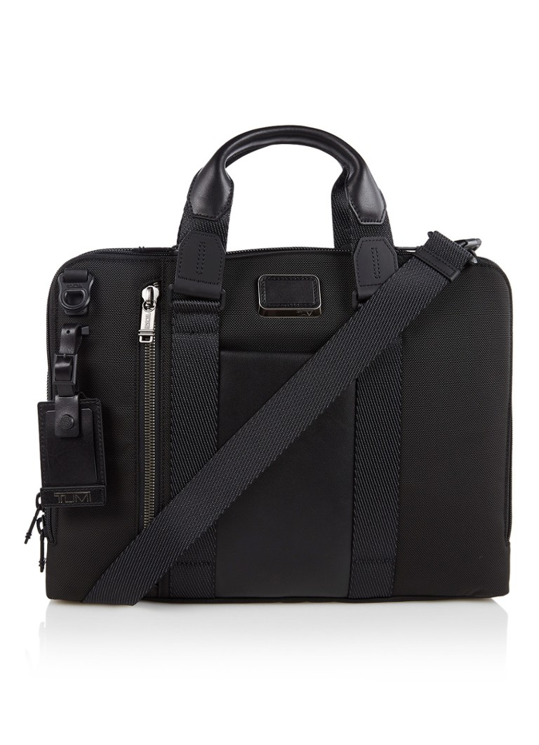 Tumi - Bravo Aviano Slim businesstas met 15 inch laptopvak - Zwart