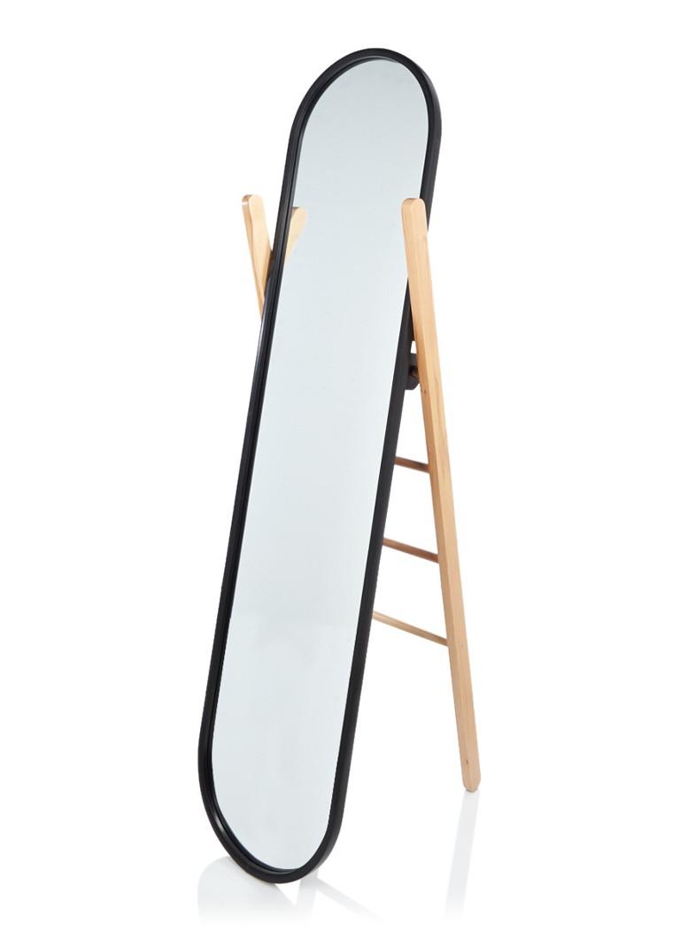 Umbra hub staande passpiegel met ladder 43 x 158 cm de for Staande spiegel hout