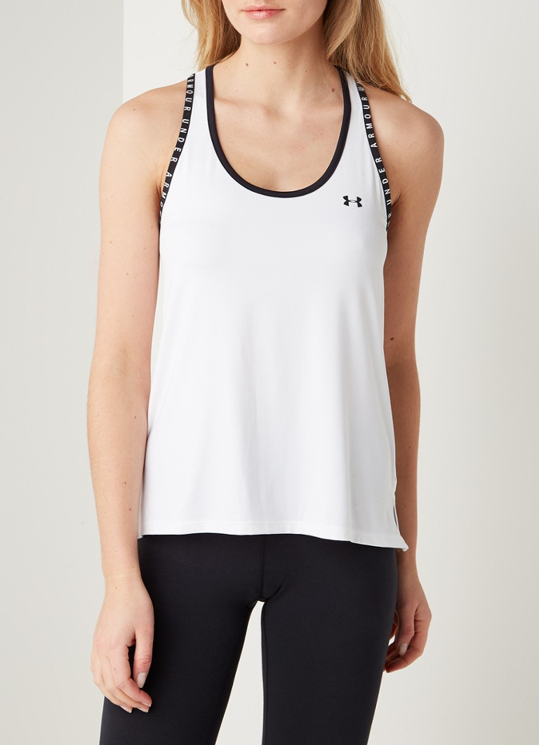 Under Armour - Knockout trainings tanktop met logoprint - Wit