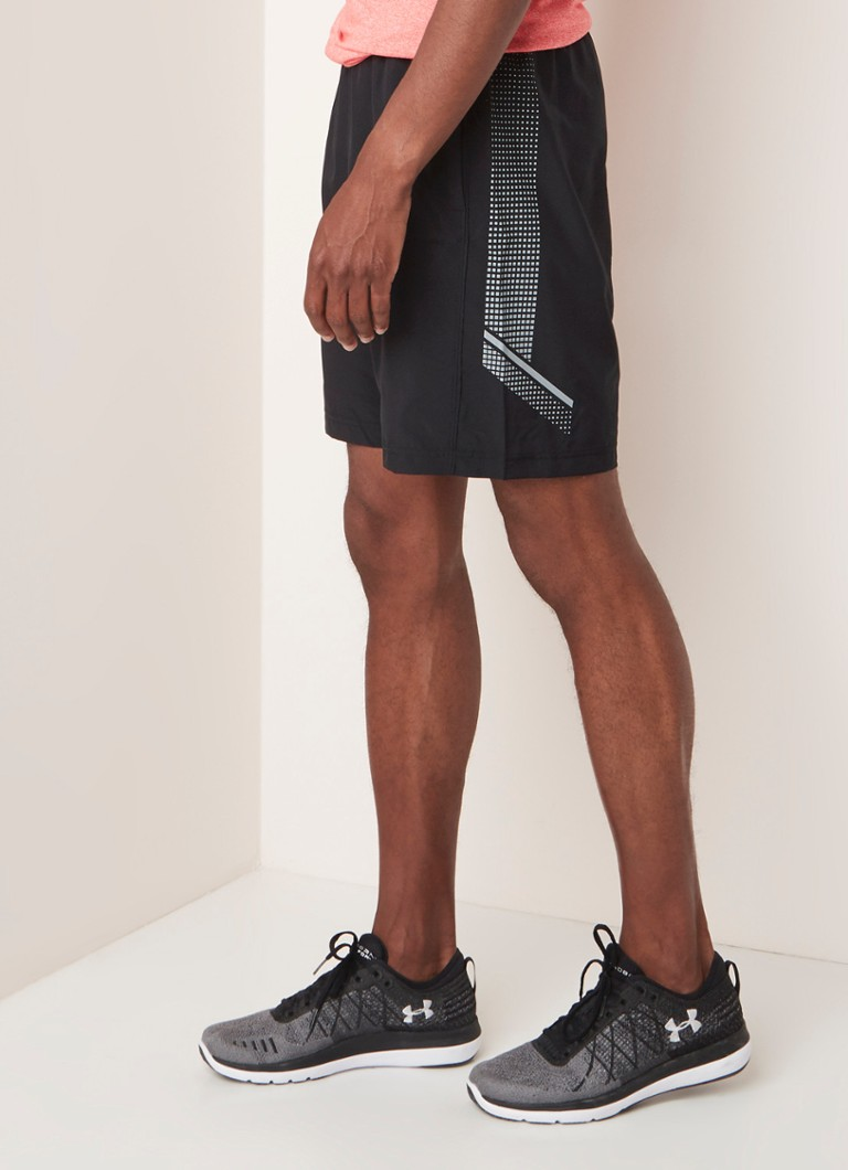 Under Armour - Loose fit trainings shorts met steekzakken - Zwart