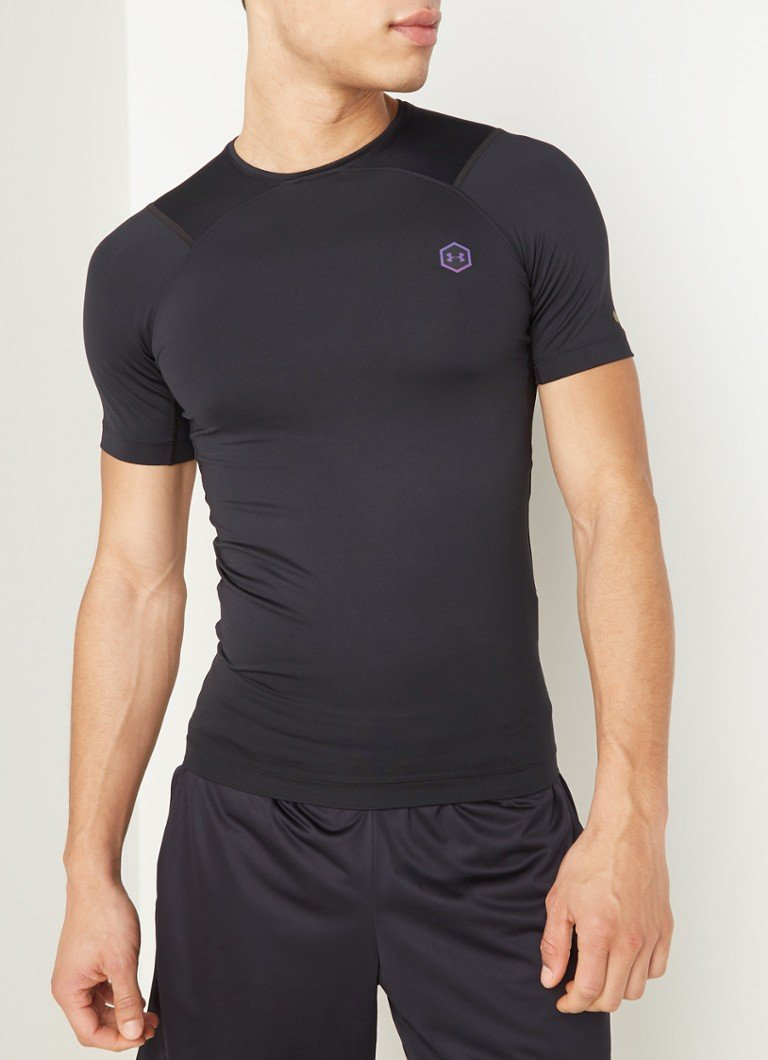 Under Armour - Rush Compression trainings T-shirt  - Zwart
