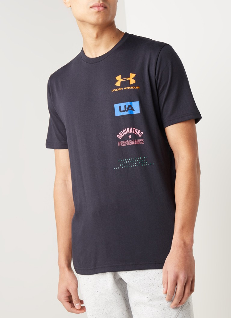 Under Armour - Trainings T-shirt met logoprint en HeatGear - Zwart