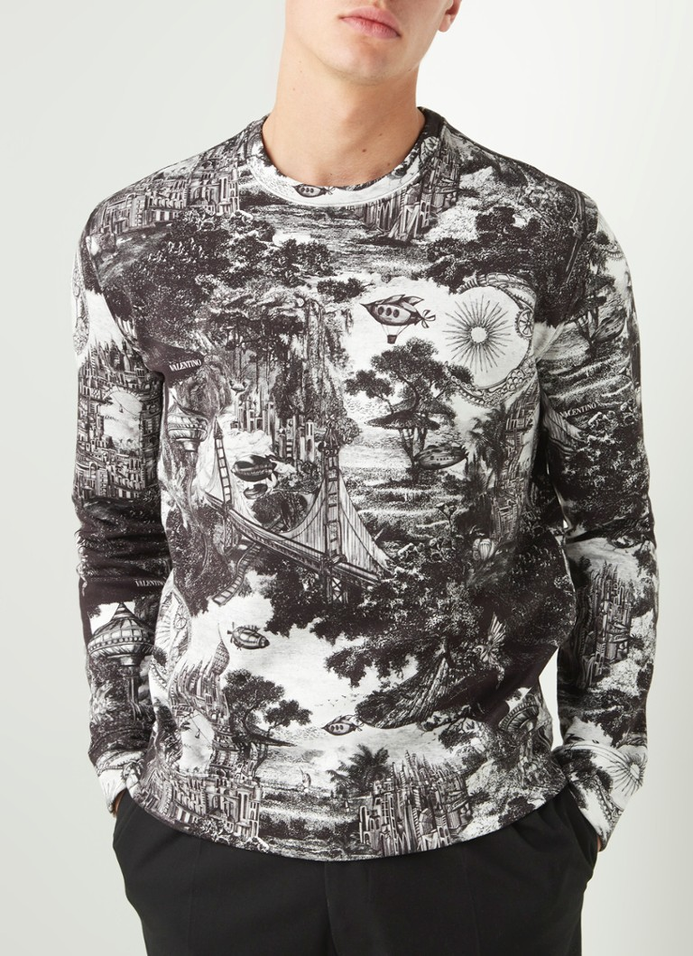 Valentino - Dreamatic sweater met print - Wit
