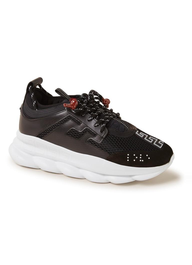 6cfa9ef2146 Versace Chain Reaction sneaker met leren details • de Bijenkorf