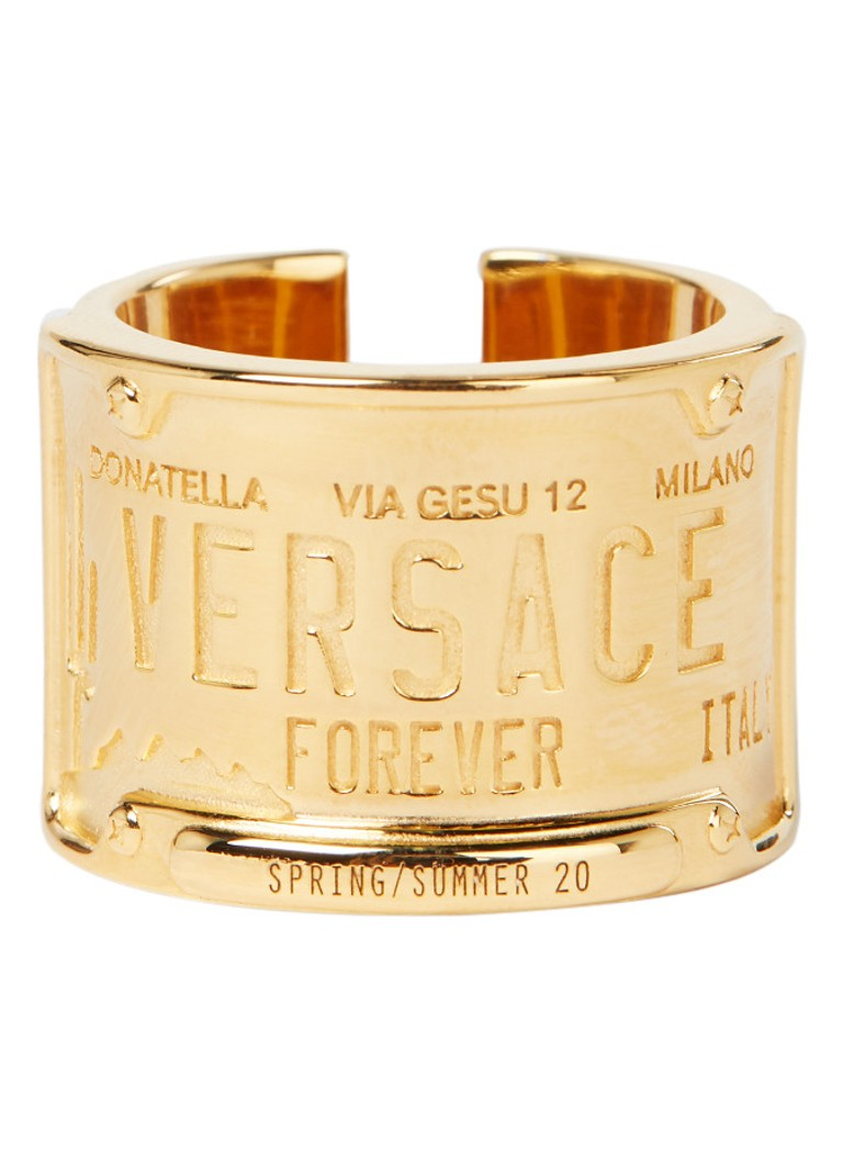 Versace - License ring met logo - Goud
