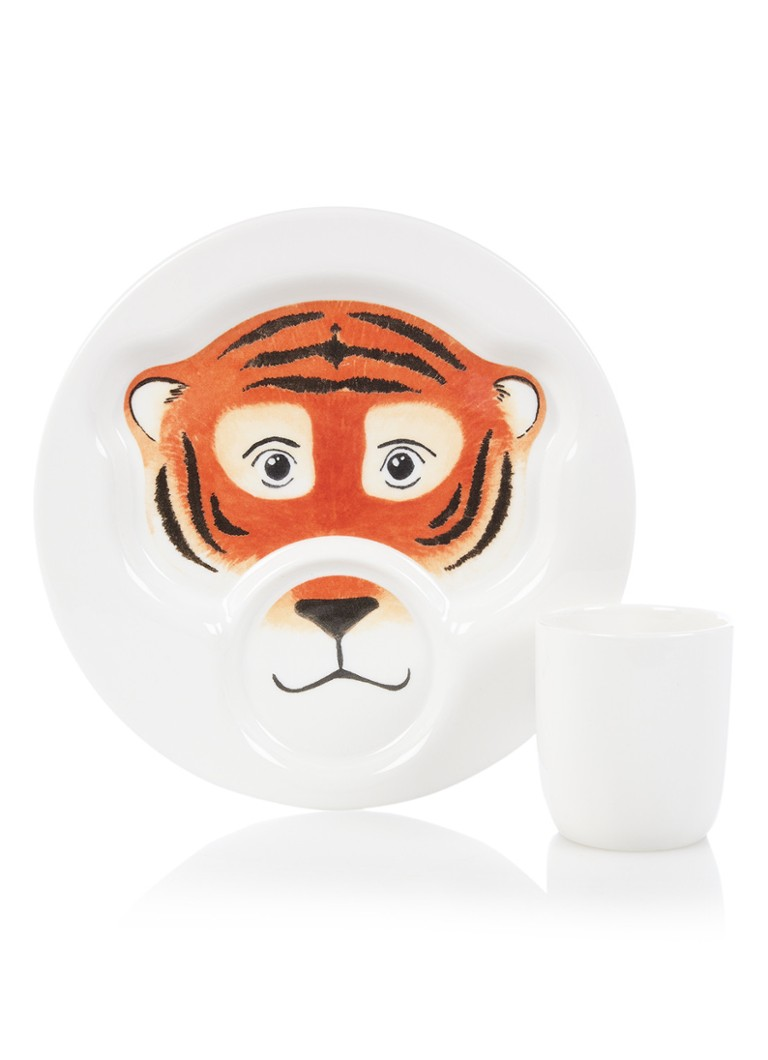 Villeroy & Boch - Animal Friends Tiger kinderservies set van 2 - Oranje