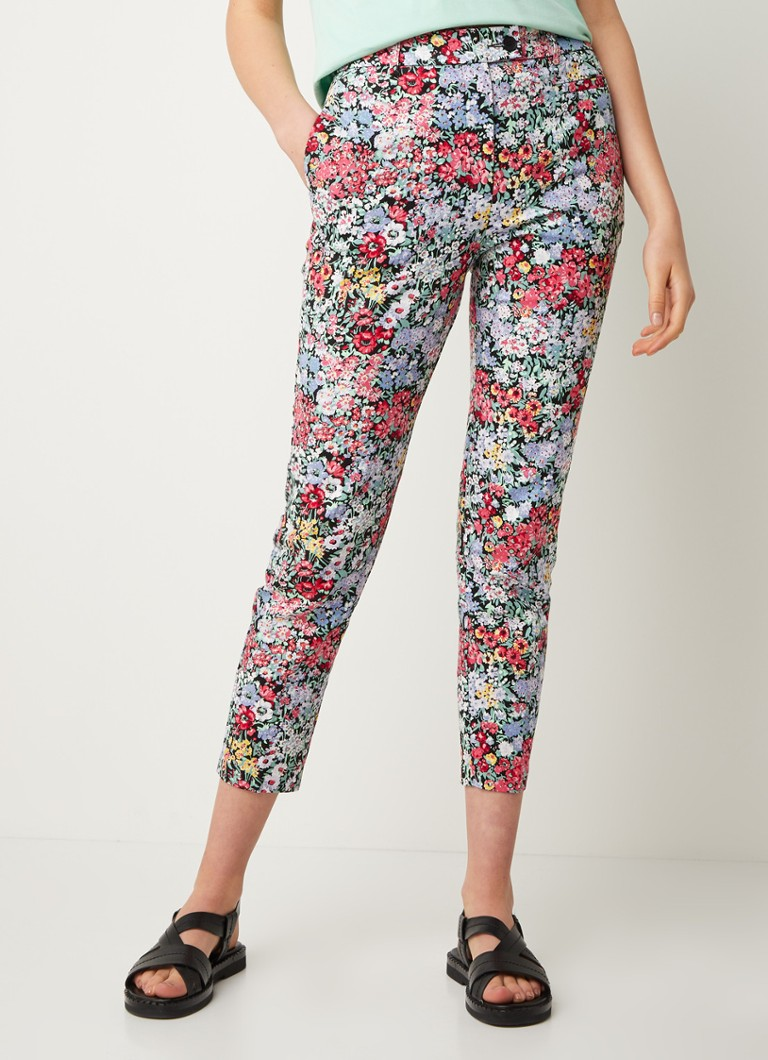 Warehouse - High waist skinny fit pantalon met bloemenprint - Multicolor