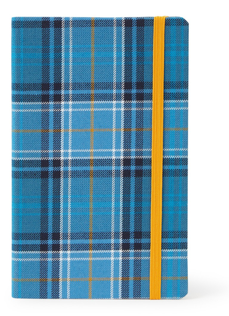 Waverley Anderson - Blue Loch Tartan Cloth Commonplace notitieboek 21 x 13 cm - Blauw
