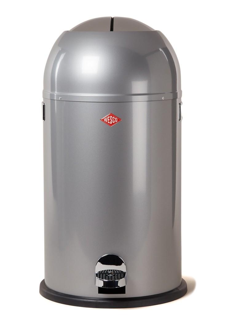 Wesco Kickmaster 33 Liter Zilver.Wesco Kickmaster Pedaalemmer 33 Liter De Bijenkorf