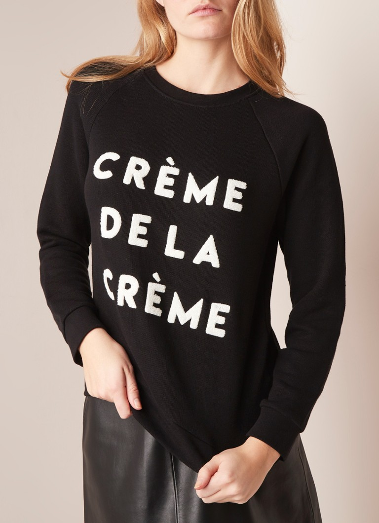 96a0b9b08 Whistles Crème de la Crème sweater met applicatie • de Bijenkorf