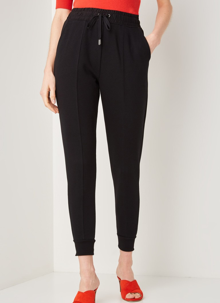 Whistles - Easy Jersey skinny fit joggingbroek - Zwart
