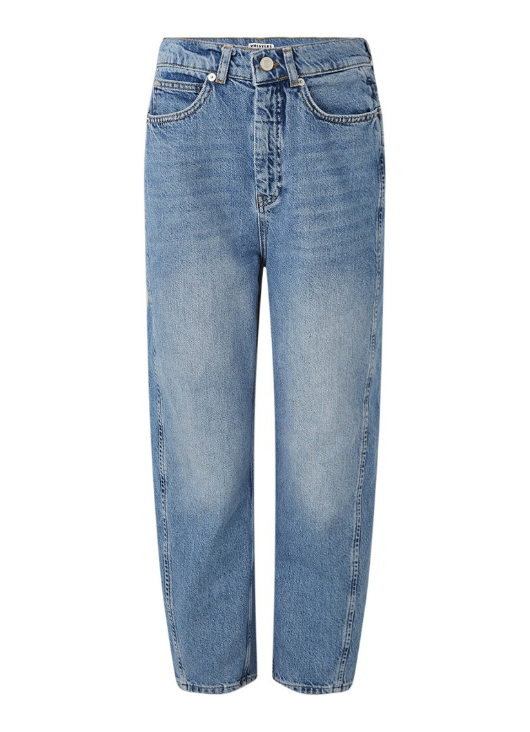 Whistles - High waist tapered fit cropped jeans - Indigo