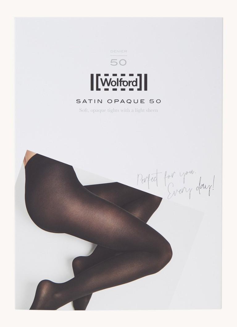 Wolford - Satin Opaque panty in 50 denier - Zilver