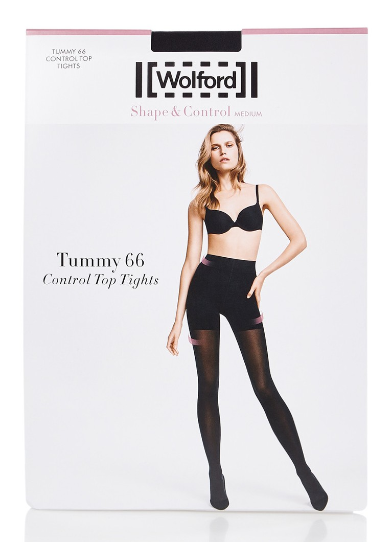 Wolford - Shape & Control Medium panty in 66 denier - Diepzwart