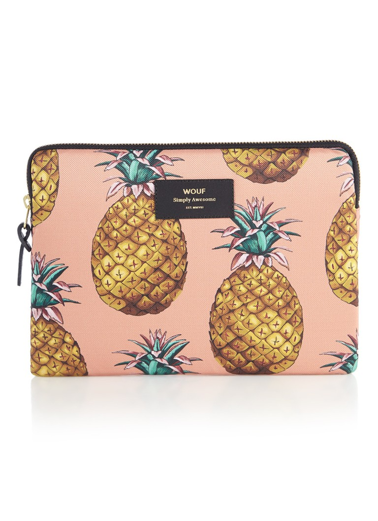Wouf - Ananas tablethoes met dessin voor iPad Air - Oranjebruin