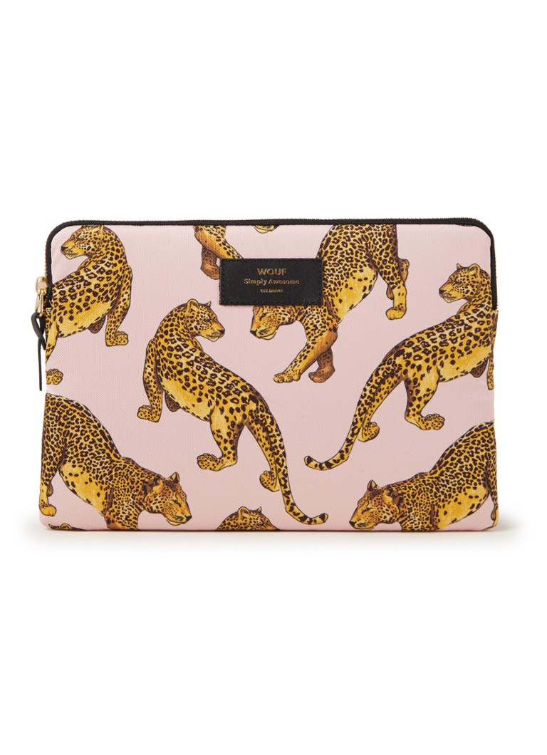 Wouf - Leopard tablethoes 10.5 inch - Lichtroze