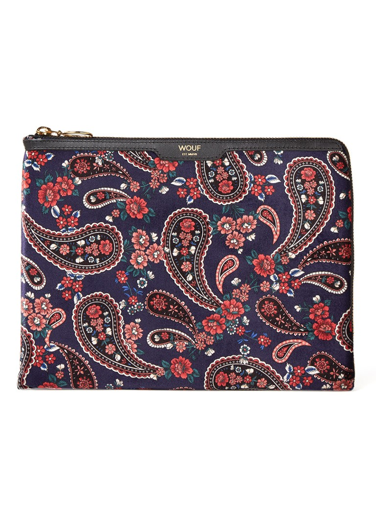 Wouf - Paisley tablethoes met print 10.5 inch - Donkerblauw