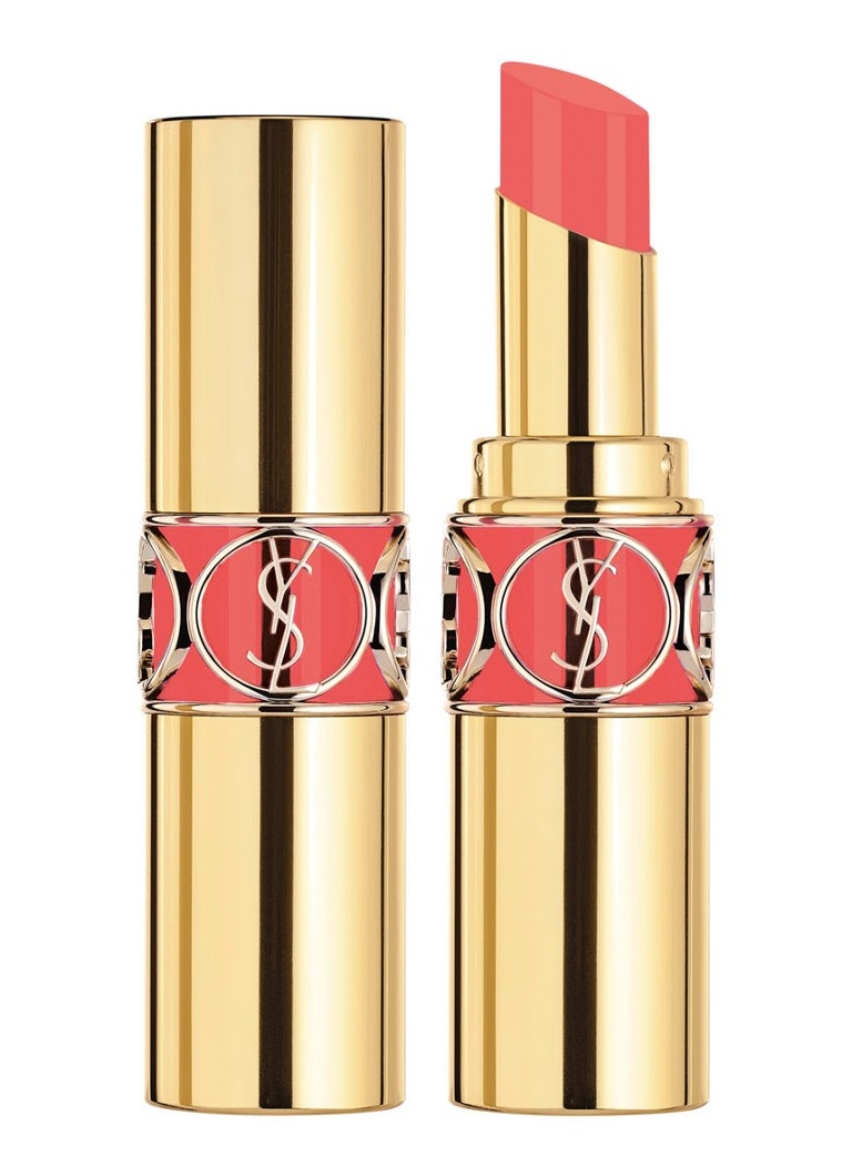 Yves Saint Laurent - Blooming Crush Rouge Volupté Shine - lipstick - 97 Coral Bloom