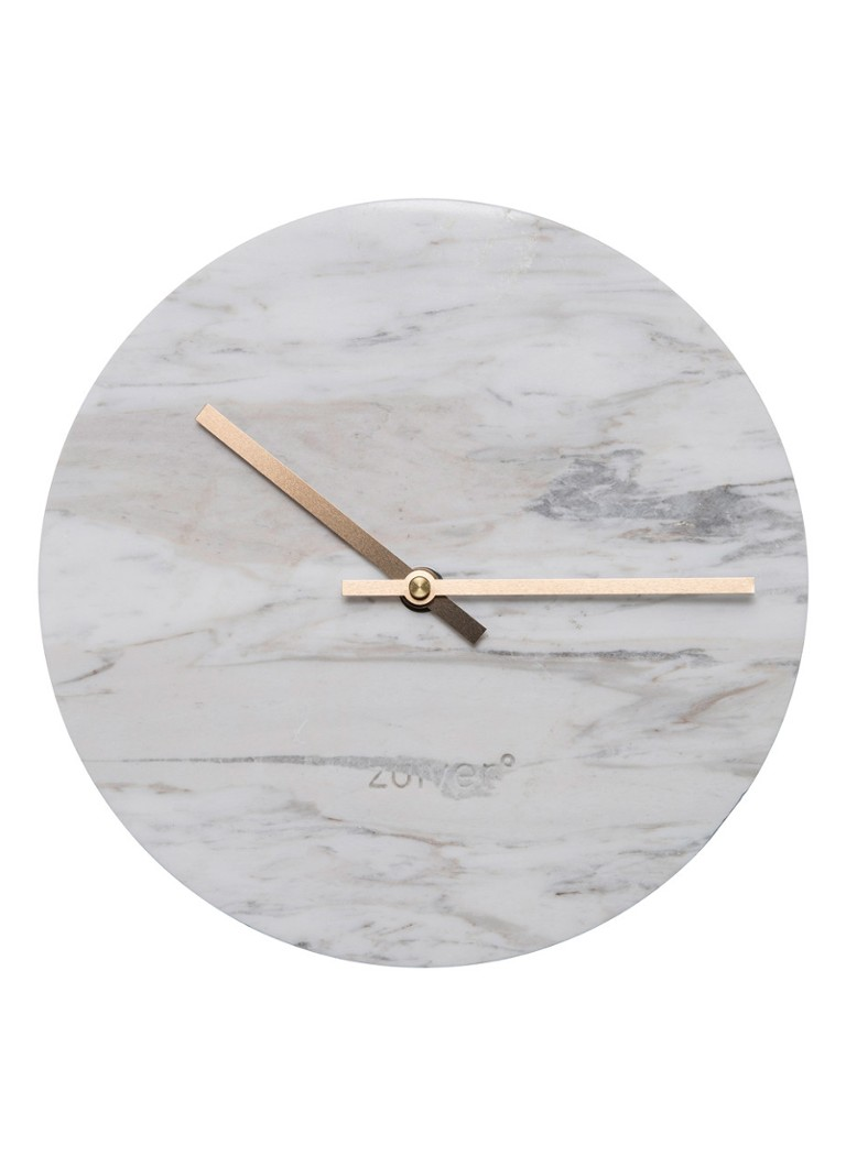 Zuiver - Marble Time klok - Wit